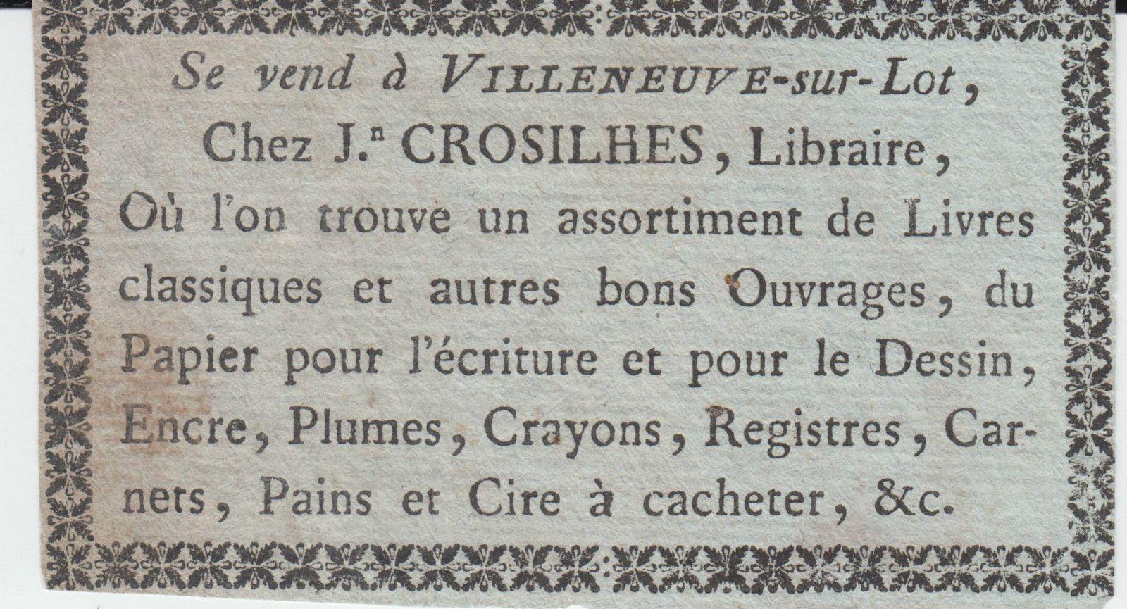 Croisilhes, Villeneuve-sur-Lot - fin 18e s.
