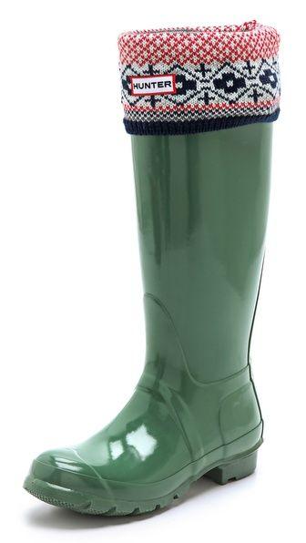 Fair Isle Cuff Welly Socks | Fair isles, Socks and Awesome shoes