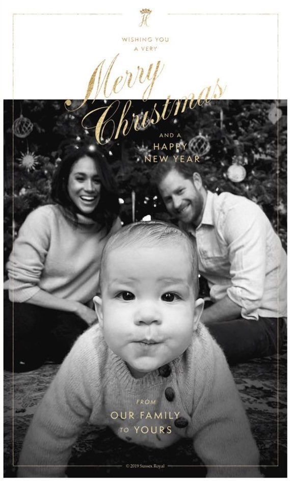 2019~ Duchess Meghan, Archie and Prince Harry's Christmas Card. in