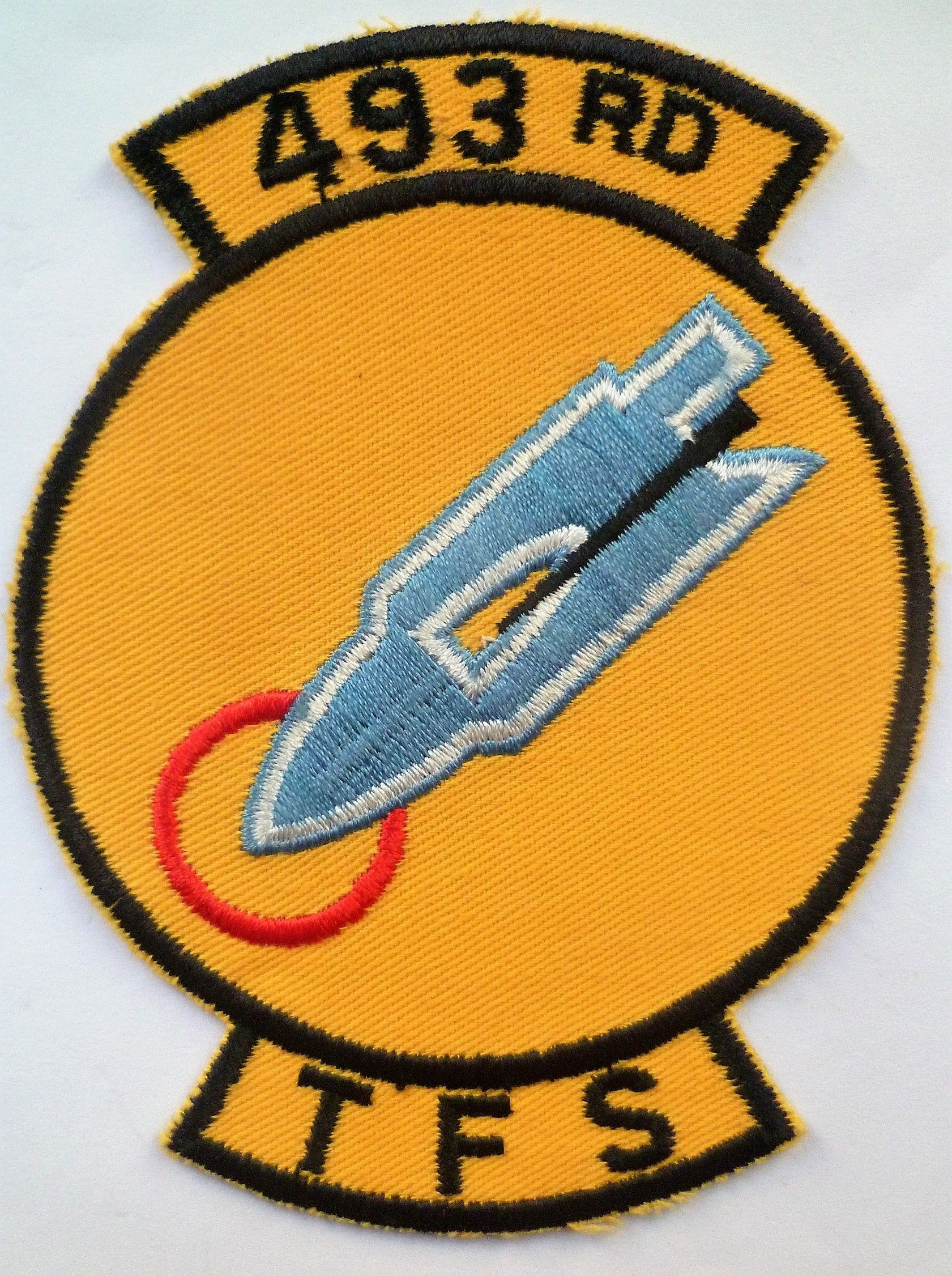 Late 1960s United States Air Force 493rd TFS Cloth Patch