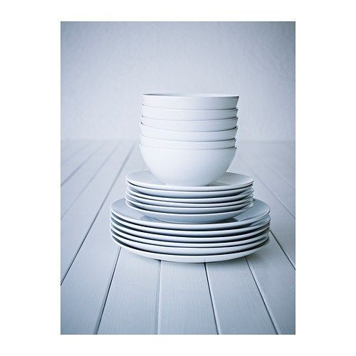 Ikea fargrik dinnerware servingware dinnerware duvet for Plain white plates ikea