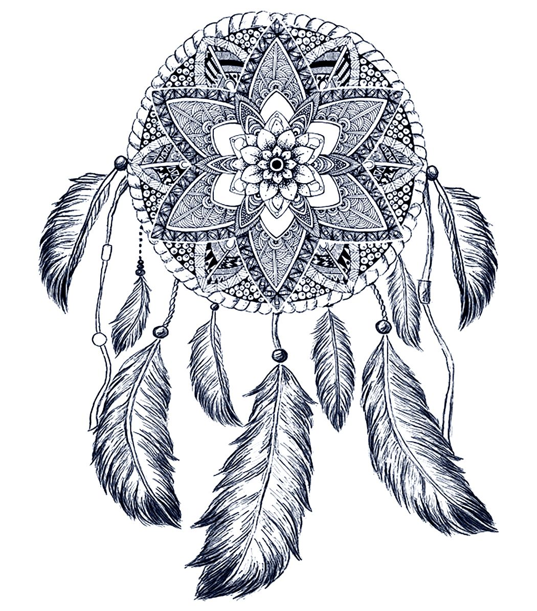 Hand drawing dream catcher graphic dreamcatcher hand for Dream catcher graphic