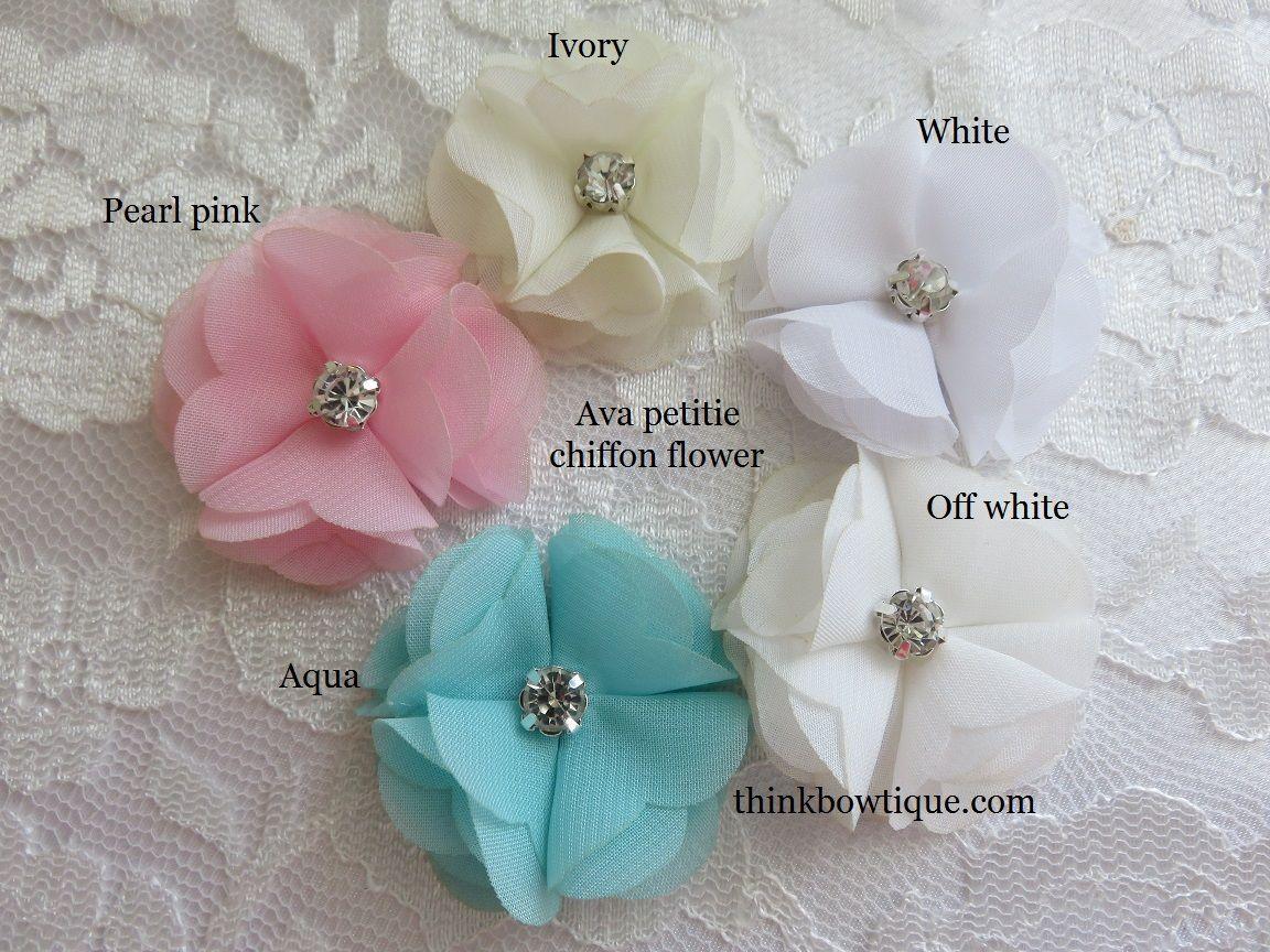 Craft flowers in bulk - Ava Petite Chiffon Flower Wholesale Grosgrain Ribbon And Craft Supplies Online Supplier