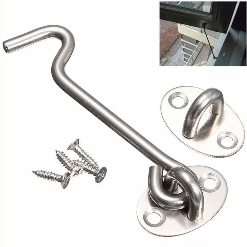 Garage door lock latch  Sizes Steel Cabin Hook and Eye Shed Gate Garage Door Latch Lock