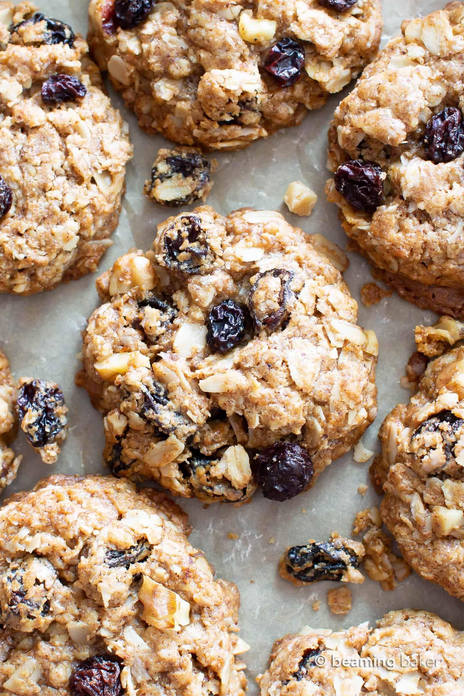 Amazing Chewy Vegan Oatmeal Raisin Cookies Gluten Free Beaming Baker Vegan Oatmeal Raisin Cookies Oatmeal Raisin Cookies Chewy Vegan Cookies
