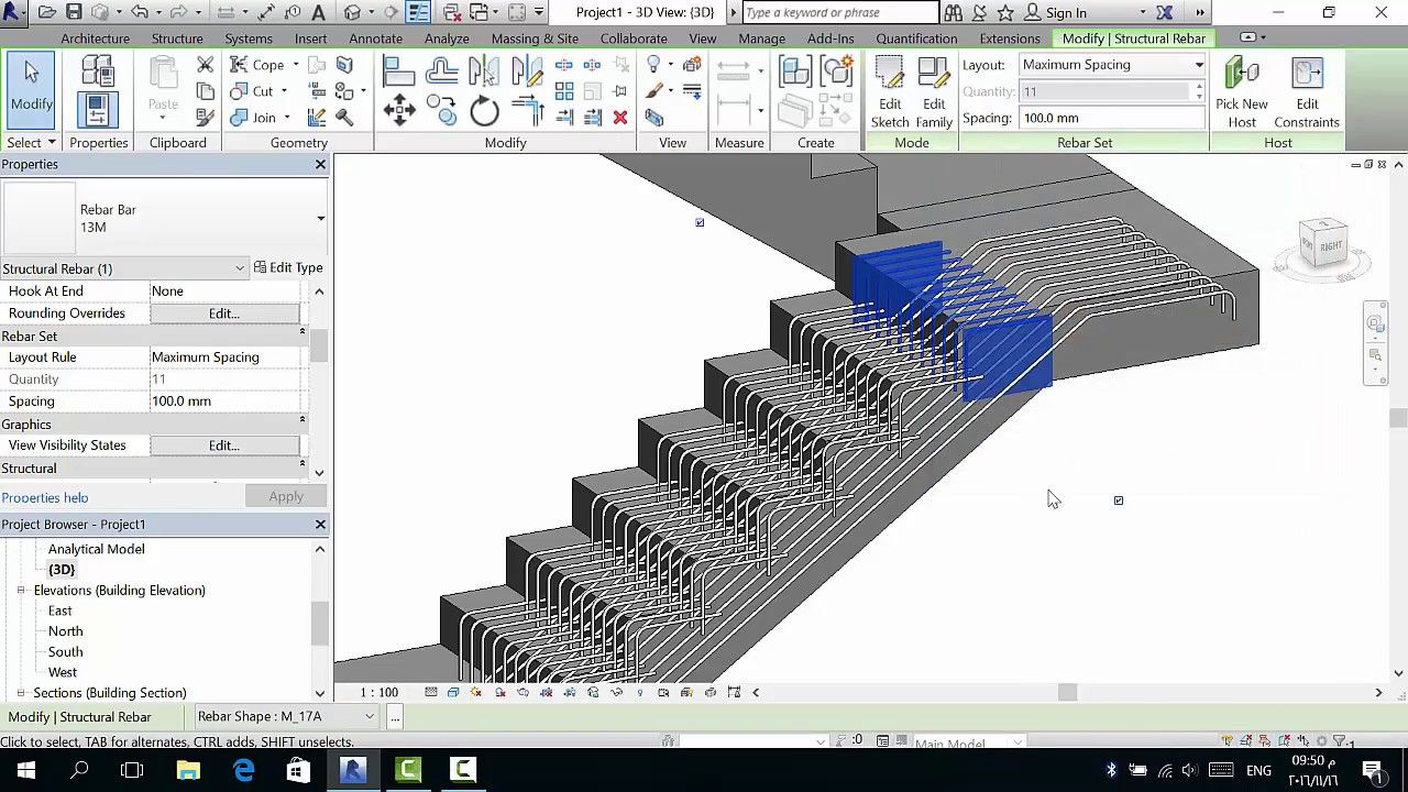 Best Revit Structure Structural Stairs With Reinforcement 640 x 480