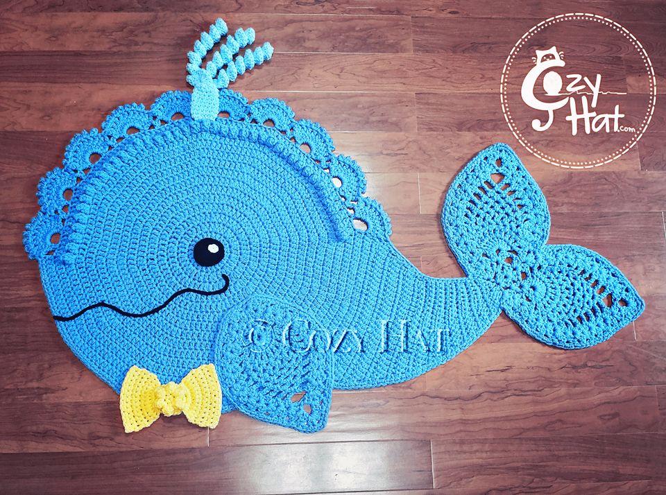 Whale Rug Whale Rug Crochet Crochet Whale Crochet Rug Back Post Double Crochet
