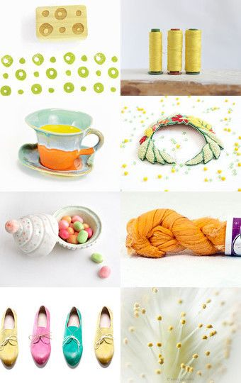 Summer Sun  by Agne Ramonaite-Bockiene on Etsy--Pinned with TreasuryPin.com #summer #sun #yellow #mustard #lemon #pastel