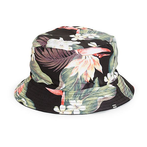 045da415 Billabong Aloha Floral Reversible Bucket Hat ($30) ❤ liked on Polyvore  featuring accessories,