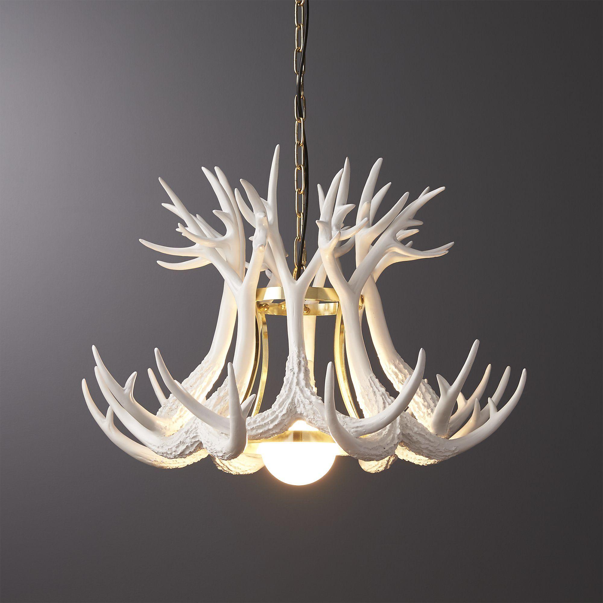 Antler pendant light things for new house pinterest antlers antler pendant light cb2 aloadofball Gallery