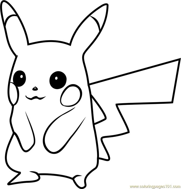 Pikachu Pokemon GO printable coloring page for kids and ...