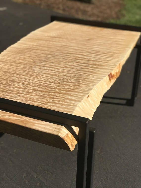 Live Edge Quilted Maple Coffee Table, Live Edge Coffee Table, Figured Live  Edge Maple Slab, Natural Edge Coffee Table, Modern Coffee Table
