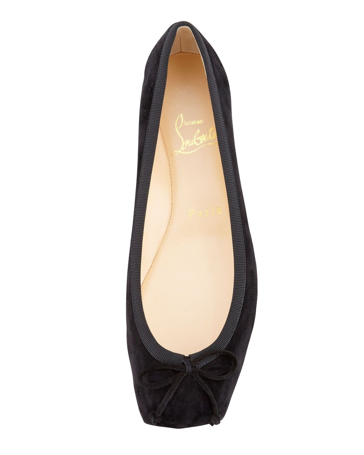 d1e69af3b Christian Louboutin Rosel Suede Square-Toe Ballerina Flat, $495 ...