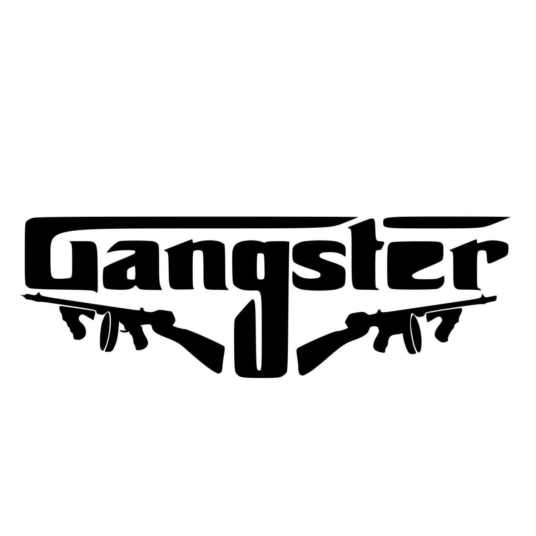 Gangster die cut decal car window wall bumper phone laptop
