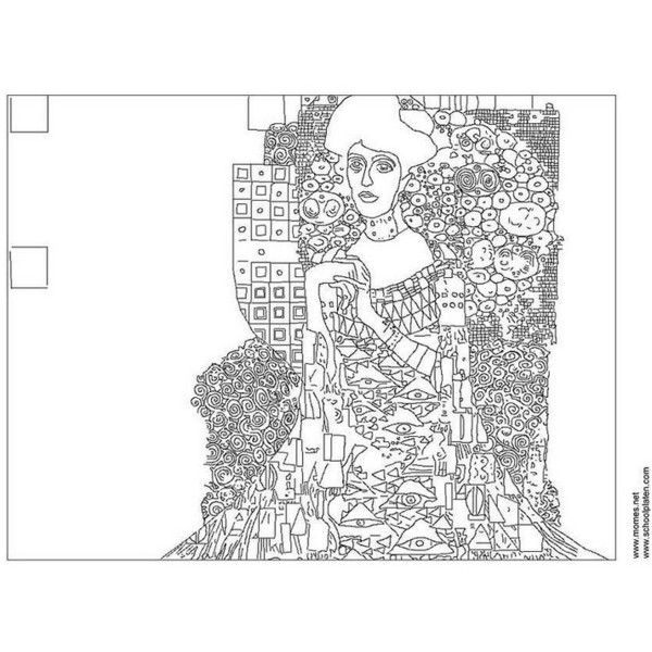 Coloring Page Gustav Klimt Free Printable Realistic Coloring