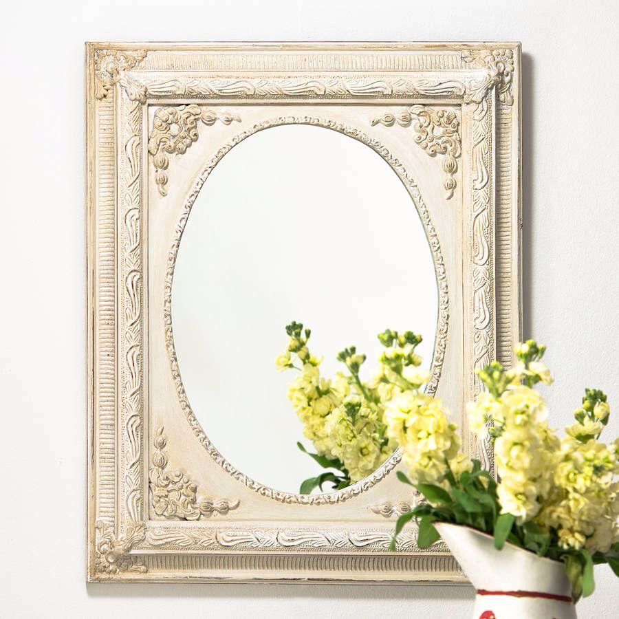 Wilko baroque mirror silver 87x62cm - Dutch Oval Vintage Mirror Notonthehighstreet