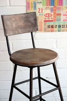 wood and iron rustic barstools google search