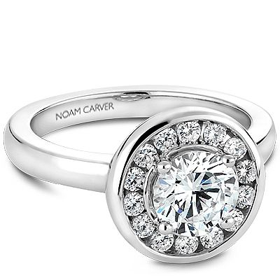 Noam Carver - Bridal Mount - B037-02A, priced from $2,063, Noam Carver Engagement Ring #diamondring #diamond #engagementring #bling #engaged  sold at Barthau Jewellers, www.barthau.com