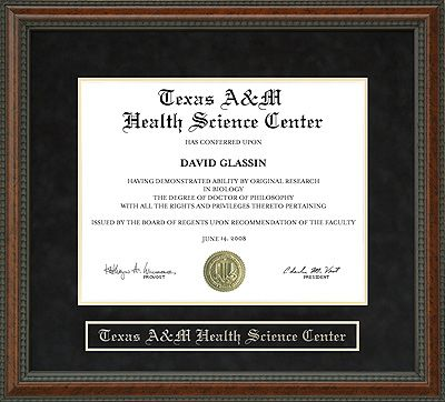 Texas A&M Health Science Center Diploma Frame | Favorite Things ...