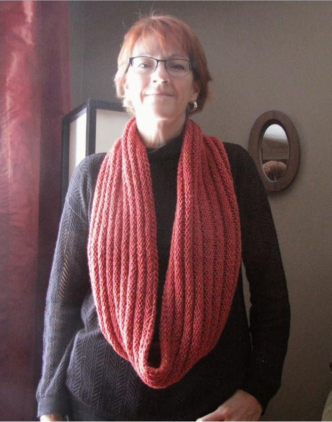 Coral Corduroy Infinity Scarf Infinity Scarf Knitting Pattern