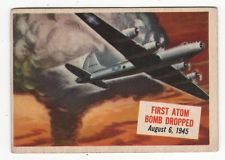 TOPPS 1954 SCOOP CARD #12 FIRST ATOM BOMB DROPPED ON JAPAN, AUGUST 6, 1945