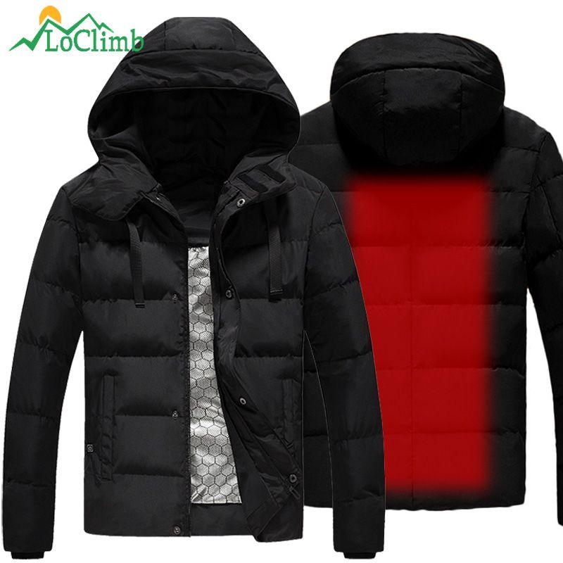 Loclimb L 5xl Usb Heated Jacket Men Winter Heating Windbreaker Hiking Thermal Waterproof Jacket Men S Coat O In 2020 Waterproof Jacket Men Heated Jacket Outdoor Jacket