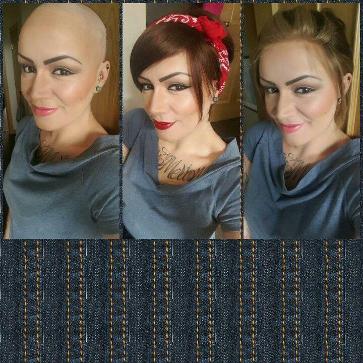 women wearing wigs