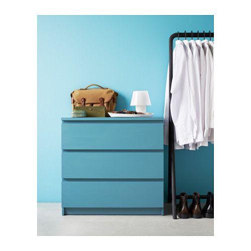 Malm Kommode Mit 3 Schubladen Turkis Ikea Haus Schlafzimmer