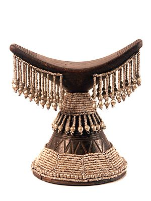africa headrest from ethiopia wood and metal beads tim rh pinterest com