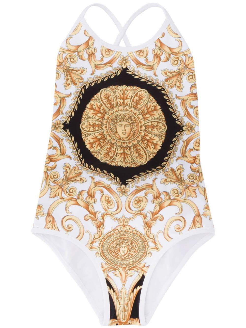 b303ba82e8 Young Versace Baroque Print Swimsuit in 2019 | Products | Versace ...