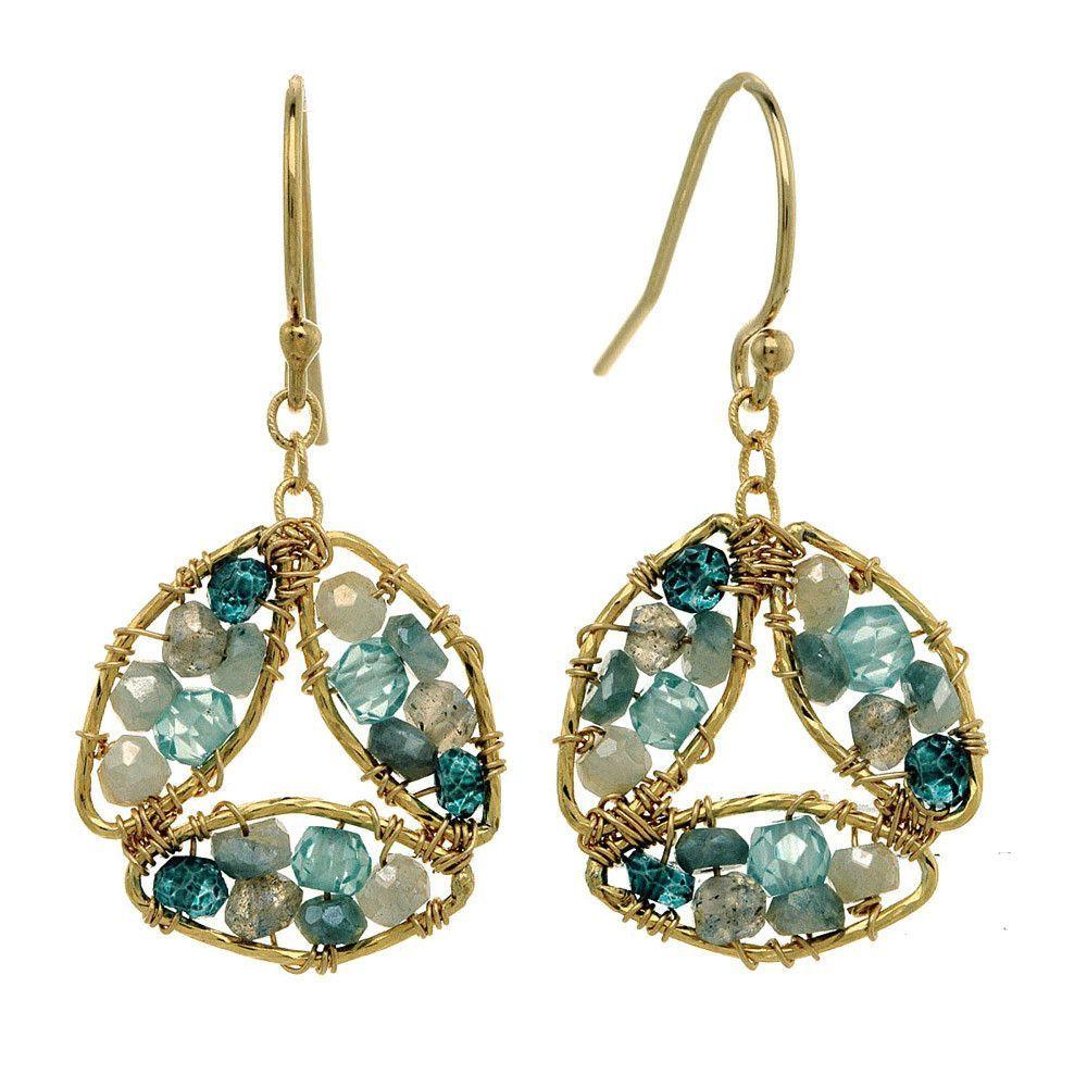 Michelle Pressler Earrings Labradorite and Blue Tourmaline 2846