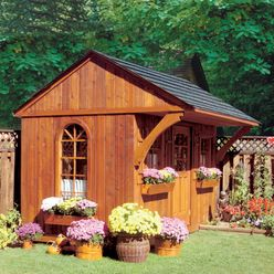 Garden Sheds- many different styles pictured