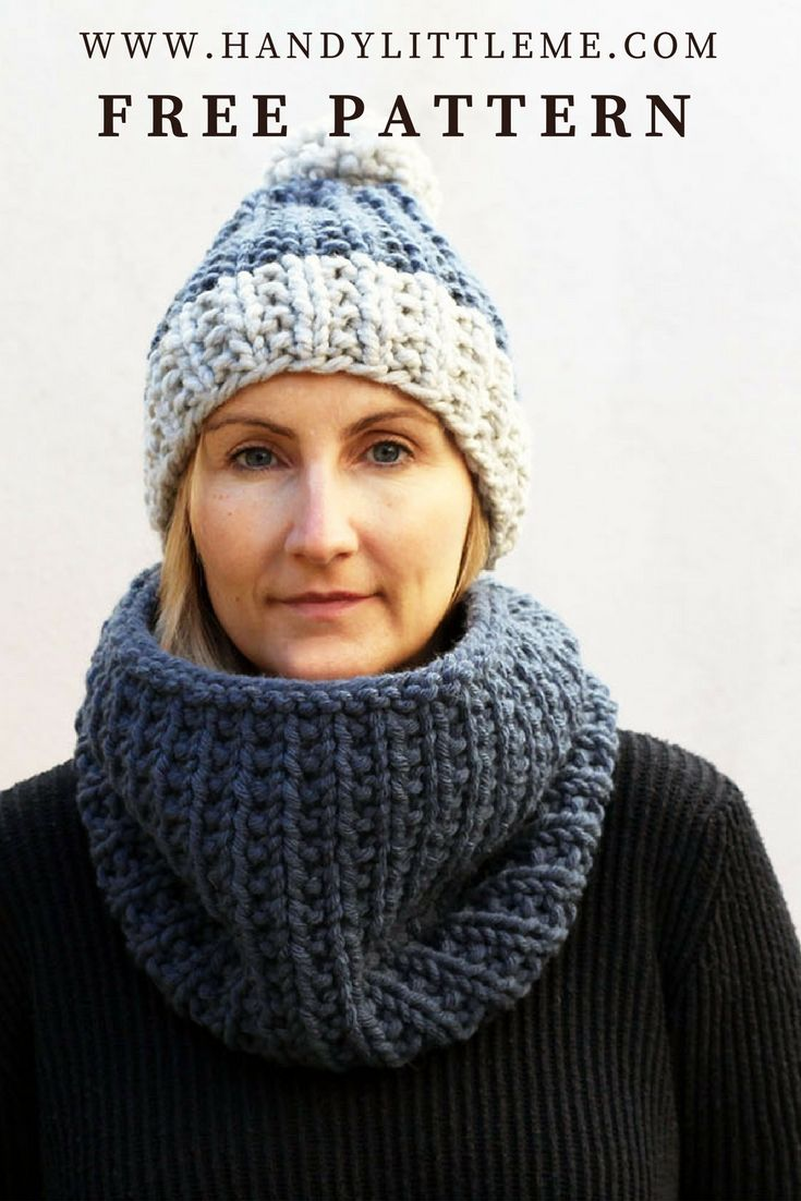 Free chunky beanie hat knitting pattern. Make a warm winter hat and ...
