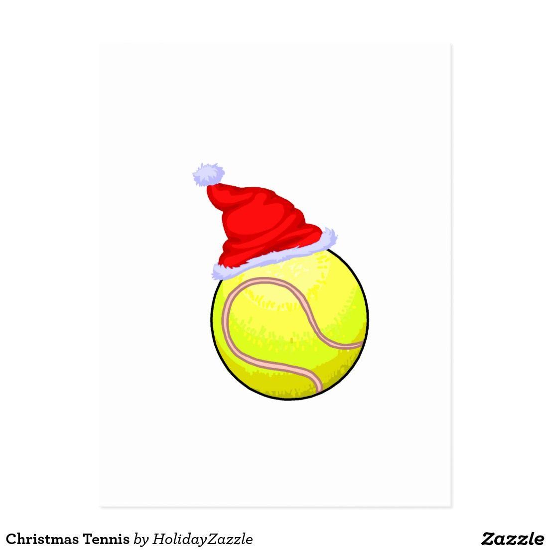 Het Tennis Van Kerstmis Feestdagenkaart Navidad Pinterest