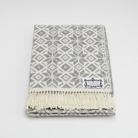 Light Grey Fair Isle Throw | BlanketsQuiltsBedding | Pinterest ...