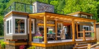 Luxusná mini chatka so strešnou terasou s krásnym výhľadom na okolitú prírodu