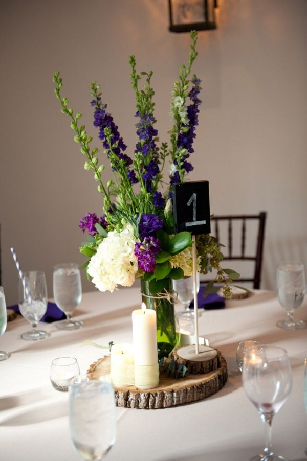 Dekoracje Sali Weselnej Na Scietym Pniu Whiteday Pl Purple Wedding Centerpieces Rustic Wedding Centerpieces Bottle Centerpieces