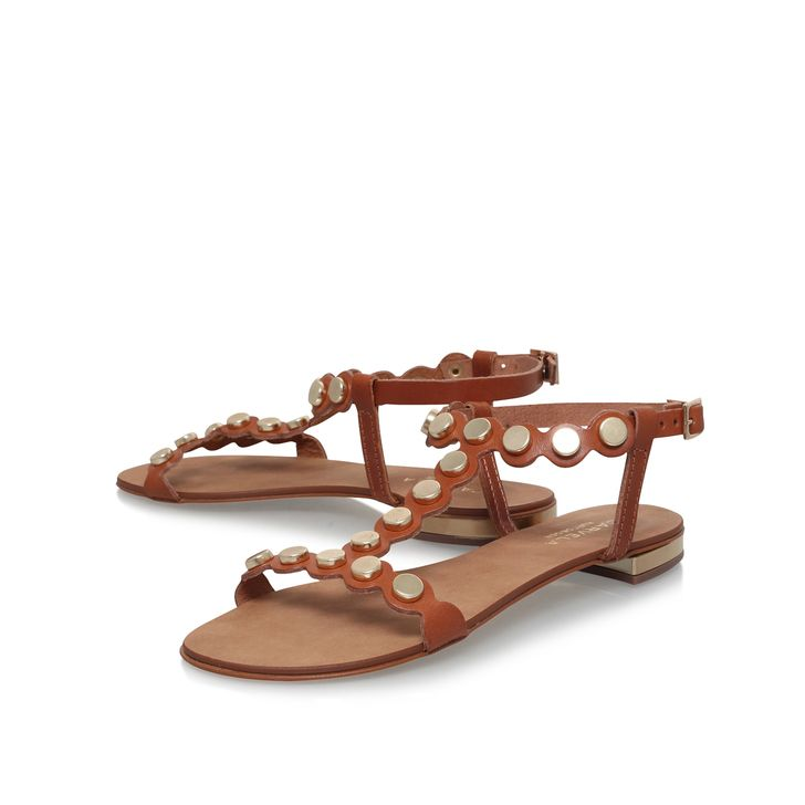 c2ab26f46cc4 Kliff Tan Flat Sandals By Carvela Kurt Geiger