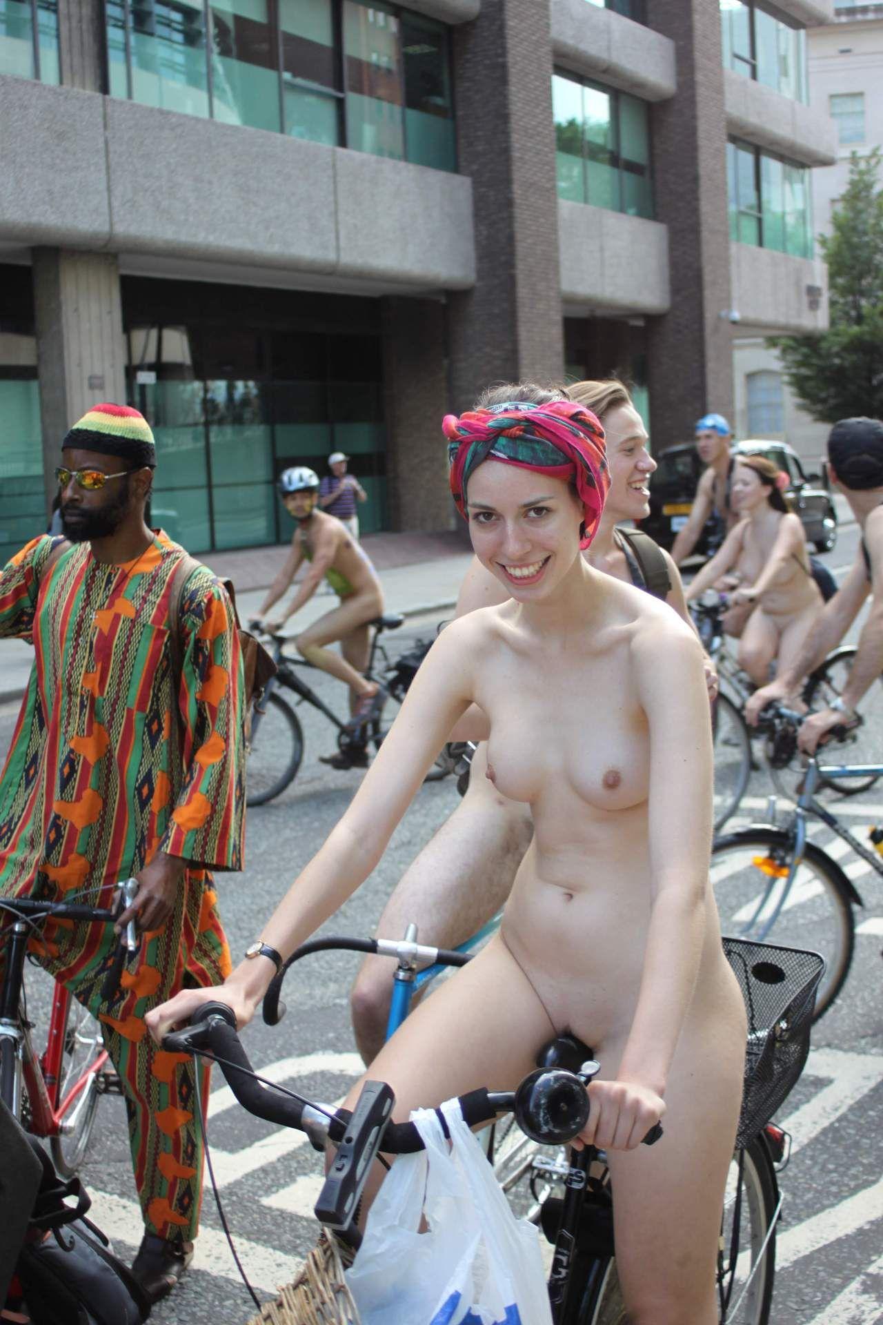 """officialworldnakedbikeride: """" World Naked Bike Ride, London 2012 """" Lovely photo"""