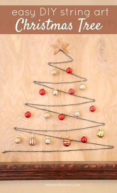 Easy Diy String Art Christmas Tree Cute Simple Christmas Decor