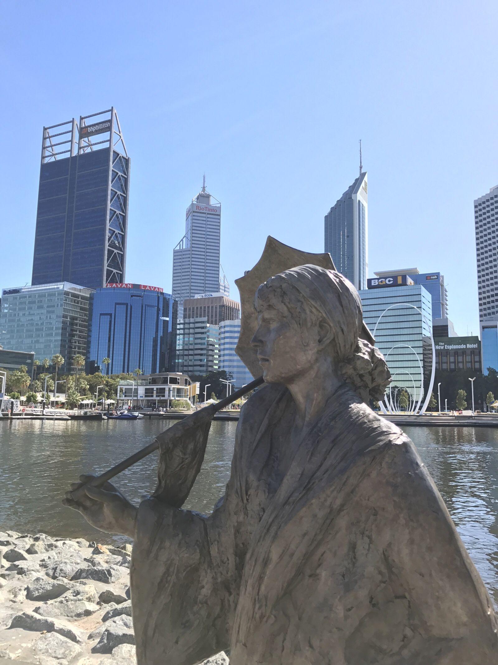 Elizabeth quay on the perth waterfront western australia