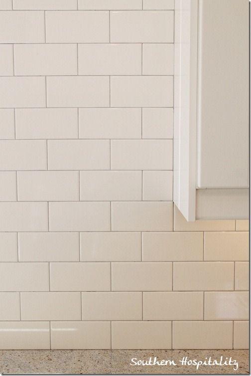 White Subway Tile Backsplash With Gray Grout White Subway Tile