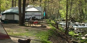 Cherokee NC Tent and RV Campground on Raven Fork River ...