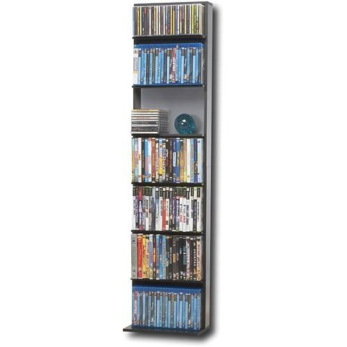 Atlantic Elite Oskar Multimedia Storage Cabinet Black Gray