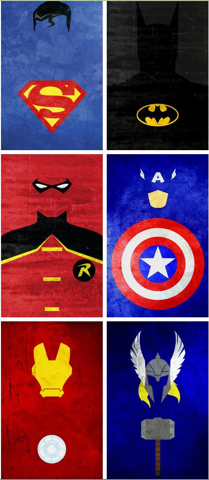 MInimalist Superheroes Society6 TheLinC