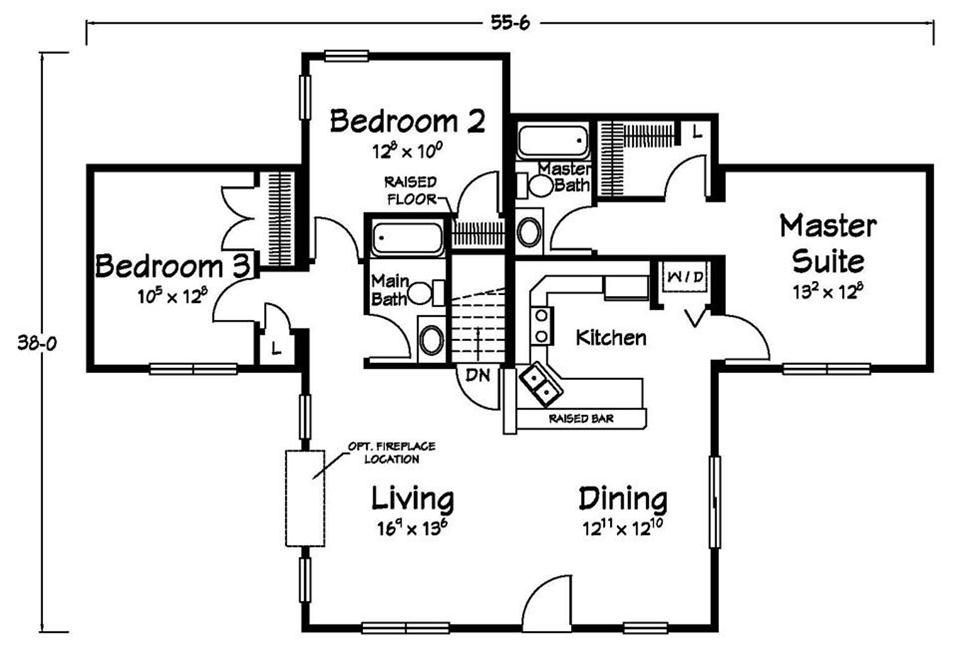 Washer & Dryer right off of the Master Suite Floor plans