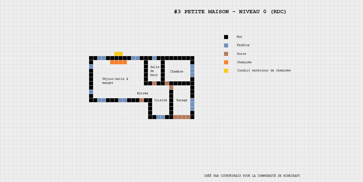 plan d 39 une petite maison minecraft constructor minecraft pinterest petite maison. Black Bedroom Furniture Sets. Home Design Ideas