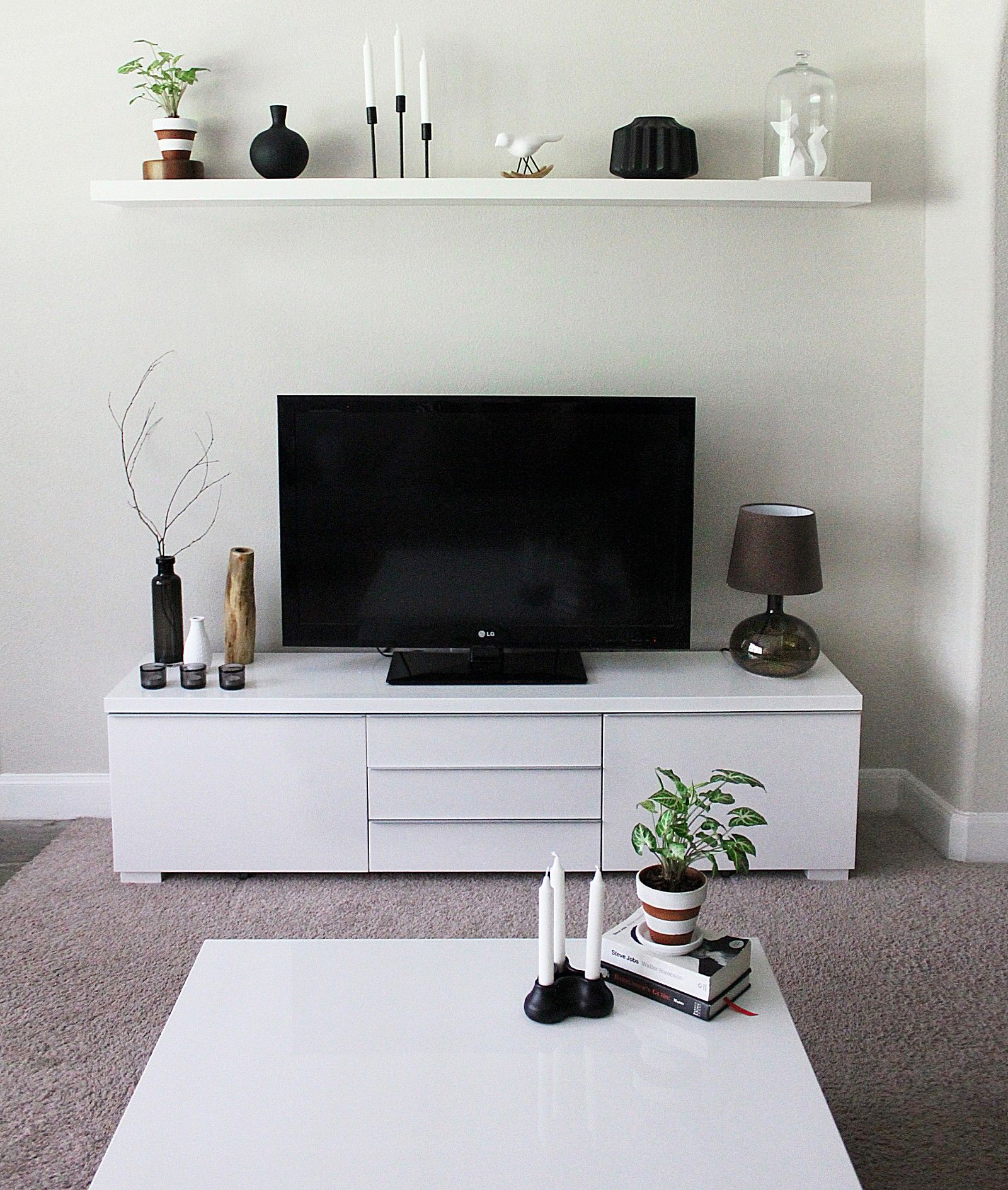 Minimalist TV Stand And Cabinet IKEA Besta