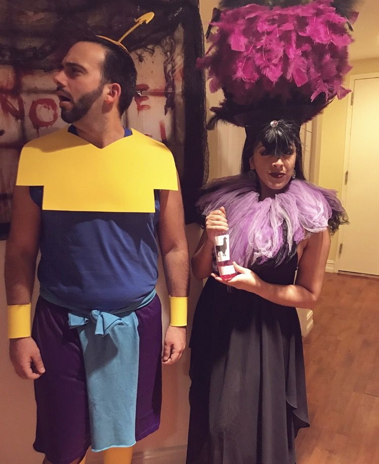 Yzma and Kronk Halloween Couples Costume Emperor's New