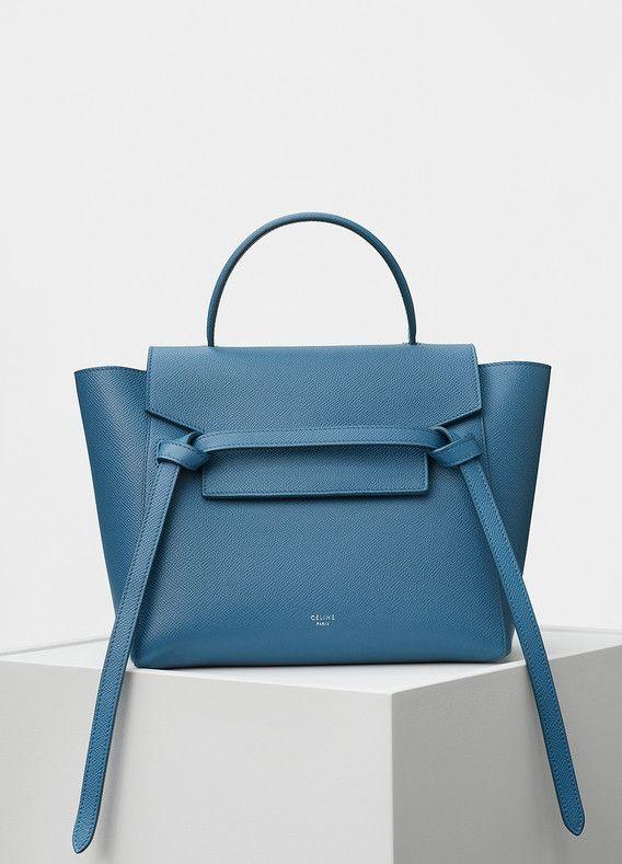 840ef58815e2 Micro Belt Handbag in Grained Calfskin - Céline